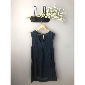 🎀 Free People • Denim Mini Dress